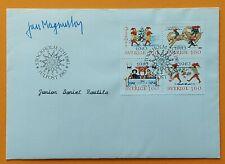 Sweden 1983 Scott 1474-1477 Christmas gnomes FDC signed Jan Magnusson