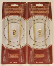 """Lot 2 Hillman Brass Classic  Plate Hanger Holds 14-18"""" Plates 122056 Easy To Use"""