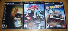 3 Playstation 2 Racing Games TWISTED METAL, SPEED KINGS, and FLATOUT