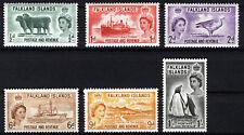FALKLAND ISLANDS 1955-57 DEFINITIVES SG187/192  MNH