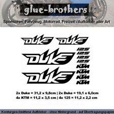 KTM Duke 125 Aufkleber Set Farbauswahl Motorsport Decal Sticker Cross