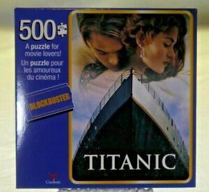 Titanic Blockbuster 500 Piece Puzzle 11x14 Cardinal Brand New Free Shipping New