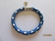 Brighton Woodstock Sweetheart Bracelet-blue-white hearts SM size-magnetic
