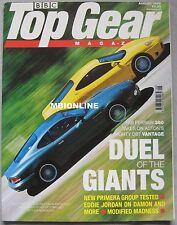 Top Gear 08/1999 featuring Ferrari 360 Modena, Aston Martin DB7 Vantage,Mercedes