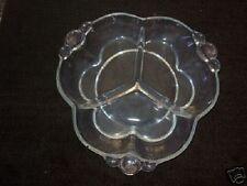 ANTIQUE Glass Canterbury Relish Dish DUNCAN Miller 1937