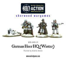 28mm Warlord German Heer HQ Winter Dress, BNIB, WWII Bolt Action,
