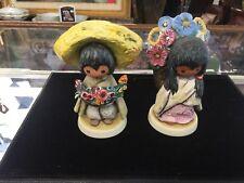 Goebel Children DeGrazia Flower Girl & Boy Figurine Southwest/Mexican 1983