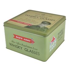 Official Dad's Army Set of 4 Whisky Glasses in a Tin Lovely Gift Set in Box