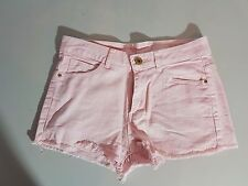 MANGO Jeans Short Femmes Hot Pants taille 36 rose aspect use