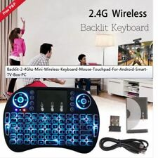 Mini Wireless Keyboard LED Backlit 2.4Ghz Touchpad For Android TV Box PC Laptop