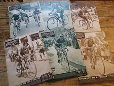 MIROIR SPRINT LOT 6 NUMEROS TOUR DE FRANCE 1950 LAUREDI DUSSAULT BARTALI BOBET