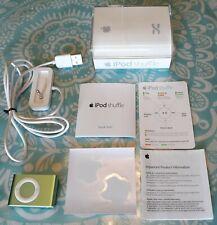 Apple iPod shuffle 2nd Generation Lime Green (1 GB) Works!! Model A1204 w/Dock