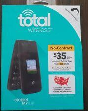 New Total Wireless Alcatel My Flip MyFlip A405 Prepaid Basic Cell Phone