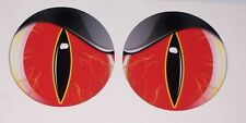 RED #2 NO FEAR EYES VINYL DECAL PAIR SHOTGUN AIR INTAKE EYE BALL BUG CATCHER