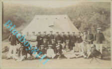 Pre WW1 Royal Marines At Camp on tour Campaign Tent unposted
