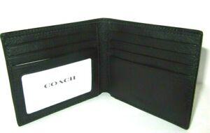 Coach F67630 Men's Wallet Black ID Sport Calf Leather New NWT $150