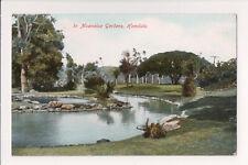 """ANTIQUE """"IN MOANALUA GARDENS, HONOLULU"""" MONKEYPOD HAWAII EARLY 1900s POSTCARD"""