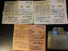 (3) Vintage 3-Day Non-Resident Fishing License 1958 1958 1960 Maryland Md lot