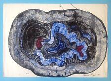 Bernard BERTHOIS-RIGAL Rare Composition de 1960 signée Abstraction 53x75cm 55ans