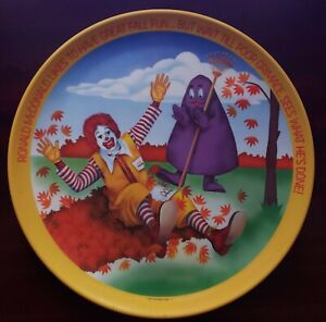 mcdonalds plates From 1977,1995,1996
