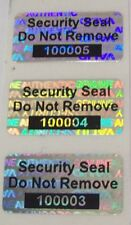 "100 SVAG Hologram Security Protection Label Seal 1/2"" x 1"" SSDNR#"