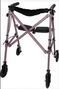Able Life Space Saver Rollator for Seniors and Adults, Regal Rose NEW FREESHIP