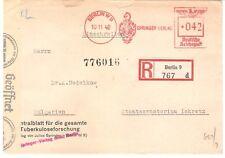 Germany 10.11.1942 Berlin Springer ver Registered Censor Meter Cover to Bulgaria