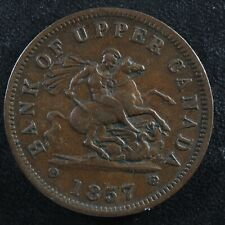 PC-6D One Penny 1857 token Bank of Upper Canada Breton 719