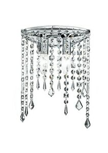 Wall Light Modern Design Chrome Metal And Crystal Clear