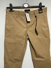 River Island Mens Light Brown Chino Trousers New With Tags W26 L30 Slim Fit