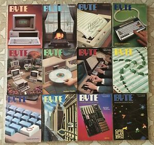 Vintage BYTE Magazine Lot of 12 full year of  1982