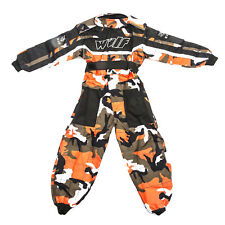 Wulfsport Enfants Tenue de Course Motocross MX Kart Quad Pit Dirt Bike Karting Orange Juni/m 7-8 Years