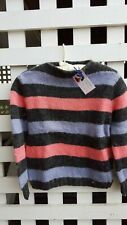 Hand-knit sweater-Vintage 60's Mohair, Striped, Pullover
