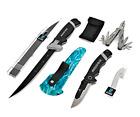 Mossy Oak 8pc Angler Knife Set for Fishing Multi-Color, Brand New