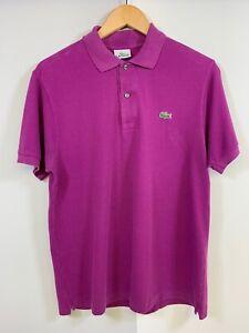 Lacoste Purple Polo Shirt Mens 3