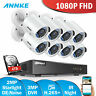 ANNKE 8CH 3MP 5IN1 DVR HD 1080P Home Security Camera System 4TB Outdoor Bullet