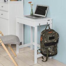 SoBuy Mesa de escritorio Mesa de ordenador con un cajón y 2 ganchos FWT43-W,ES