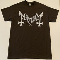 MAYHEM Logo T shirt BLACK METAL death Watain Morbid Angel Dissection Abbath 1349