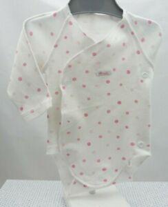 Absorba body manche longue blanc pois rose bébé 1 mois