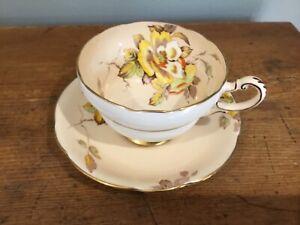 Vintage Paragon Gloire De Dijon Cup and Saucer Floral Design
