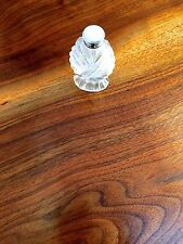 Unusual Glass Salt or Powder Shaker with Sterling Silver Rimmed Top