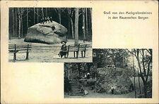 Markgrafenstein b. Fürstenwalde Brandenburg 1913 Rauensche Berge Kinder Findling