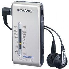 F/S Sony Stereo FM/AM pocket Radio Silver SRF-S86 S Freeshipping From japan