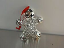 Lenox Sparkle & Scroll Christmas Gingerbread Man Ornament with Crystals - New