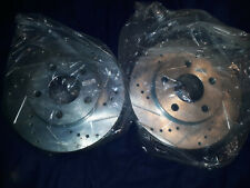2 Disc Brake Rotors Drilled Slotted Front Pair Power Stop AR8250XR / AR8250XL