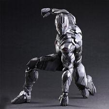 Play Arts Kai PA Avengers Silver Gray Iron Man Figure Toy Doll Model Display