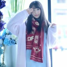 Card Captor Sakura Kinomoto Cosplay Costume Winter Scarf Unisex Cappa Cloak Red