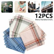 12 X Stofftaschentücher Herren & Damen Taschentücher Stoff 100% Baumwolle NEU