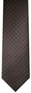 IMPERFECT NEW TOM FORD BROWN & BLACK GIANT HOUNDSTOOTH SILK NECK TIE