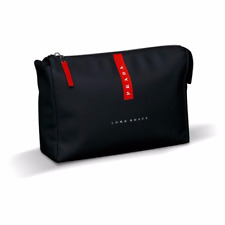 BRAND NEW 100% GENUINE PRADA MENS TOILETRY WASH SHAVE TRAVEL POUCH BAG BLACK